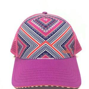 PrAna Striped Trucker Hat Snap Back